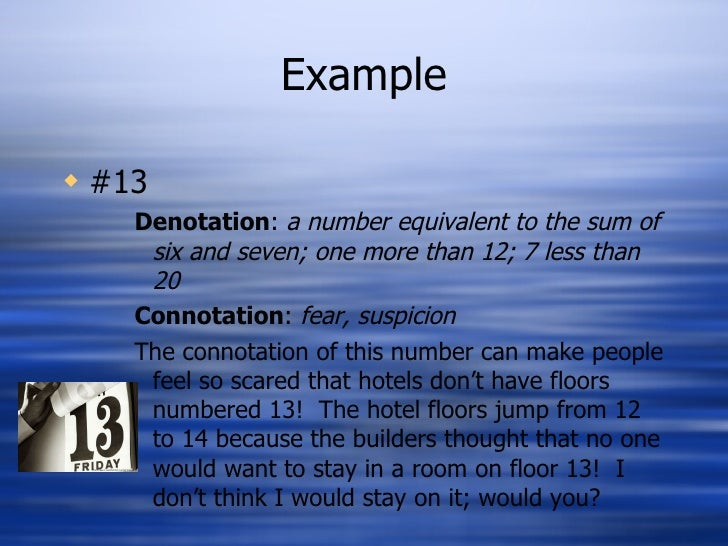 What is connotation and denotation in poetry. Definition of.