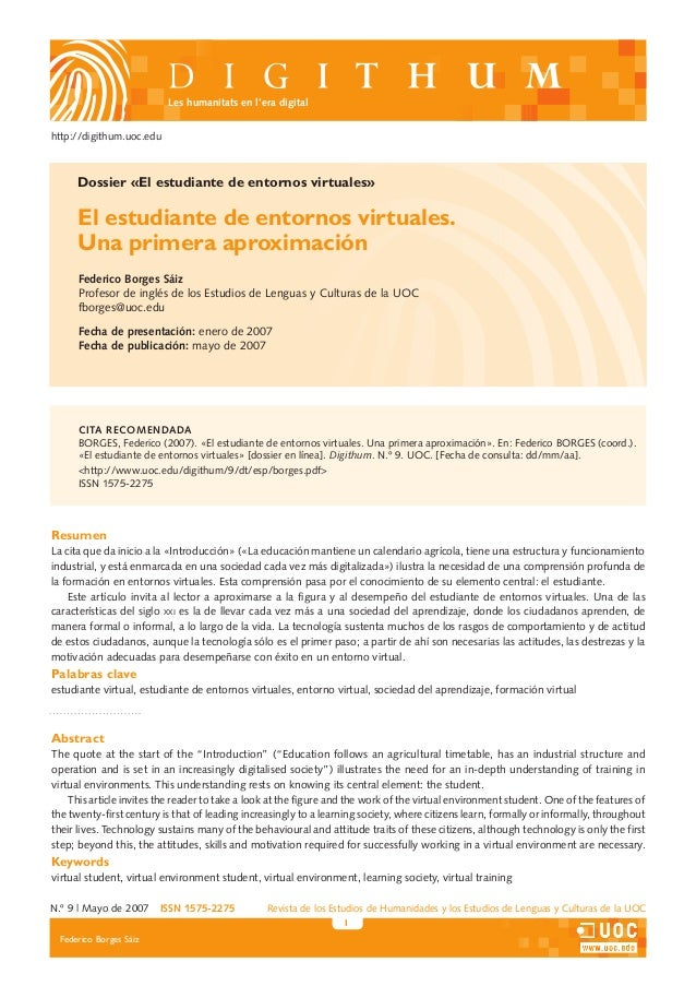 N.º 9 | Mayo de 2007 ISSN 1575-2275  Revista de los Estudios de Humanidades y los Estudios de Lenguas y Culturas de la UO...