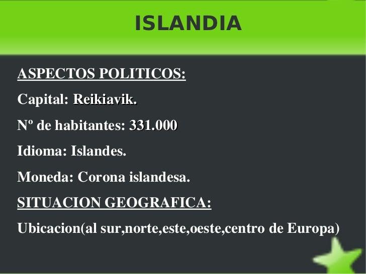 ISLANDIA <ul><li>ASPECTOS POLITICOS: