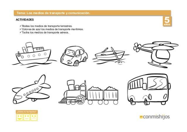 Transportes Por Tierra Para Colorear: Conocer Medios-transporte-5