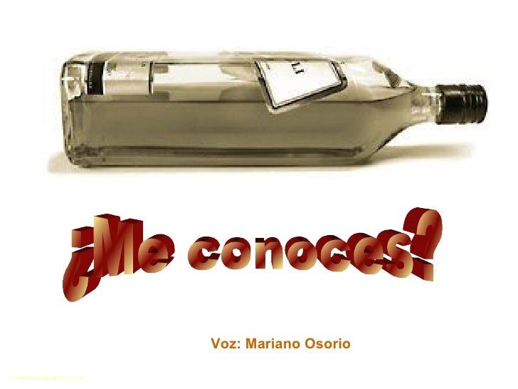 ¿Me conoces? Voz: Mariano Osorio