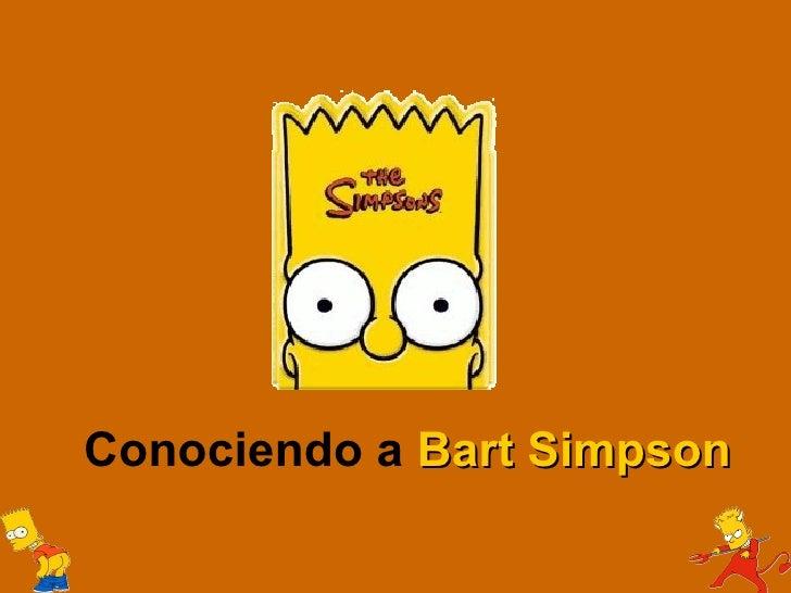 Conociendo a Bart Simpson
