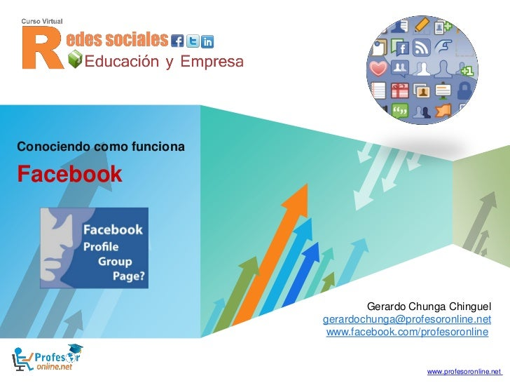 Conociendo como funcionaFacebook                                          Gerardo Chunga Chinguel                         ...