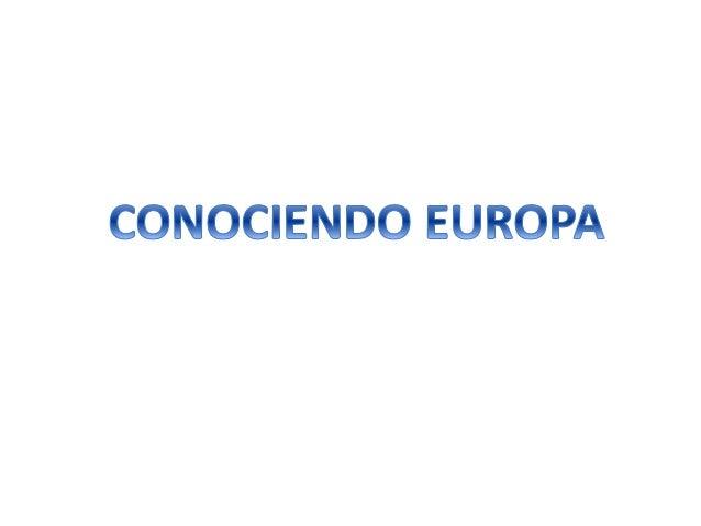 Conociendo europa