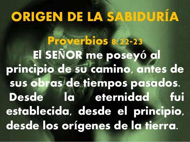 Resultado de imagen para proverbios 8:22