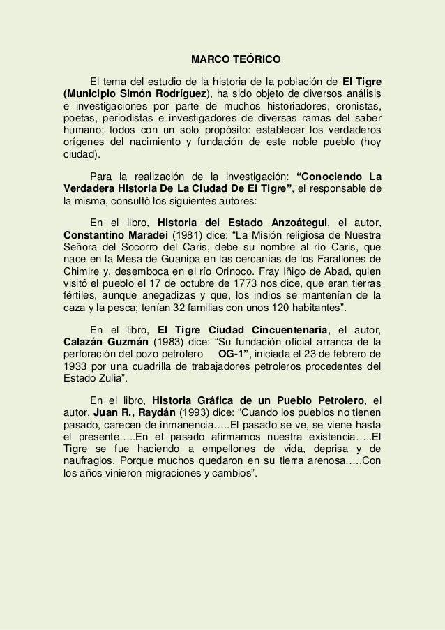 CONOCIENDO LA VERDADERA HISTORIA DE LA CIUDAD DE EL TIGRE