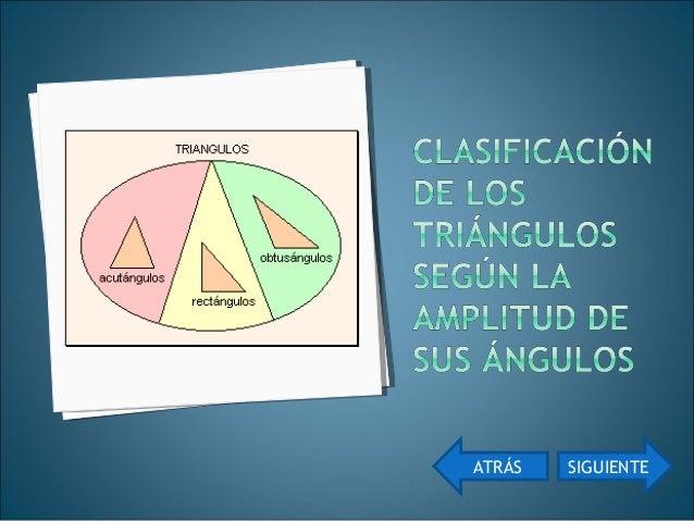 Rectángulo Obtusángulo AcutánguloRectángulo Obtusángulo Acutángulo ATRÁS Has click sobre las imágenes ACTIVIDAD 2 ACTIVIDA...