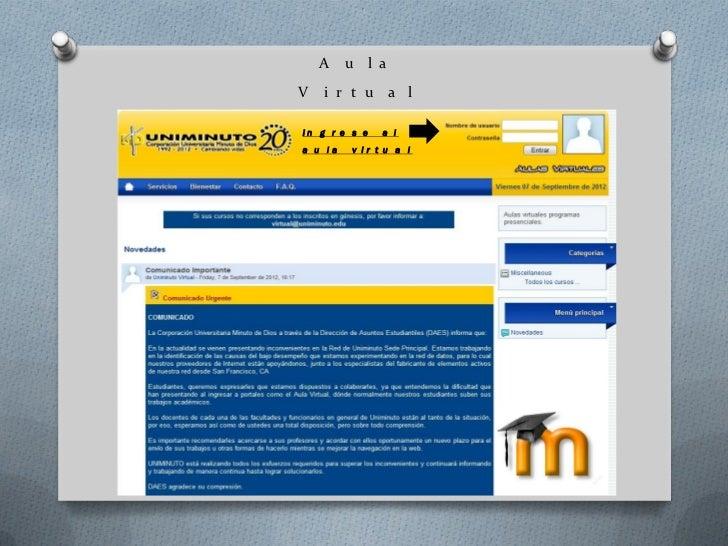 Conociendo el aula virtual y el correo estudiantil Slide 2