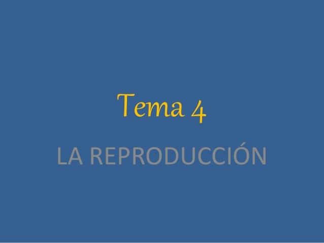 Tema 4 LA REPRODUCCIÓN