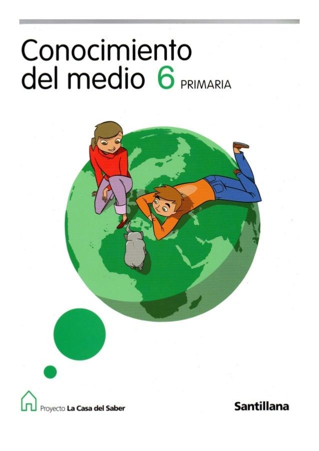 Conocimiento del medio -  6 primaria - Santillana
