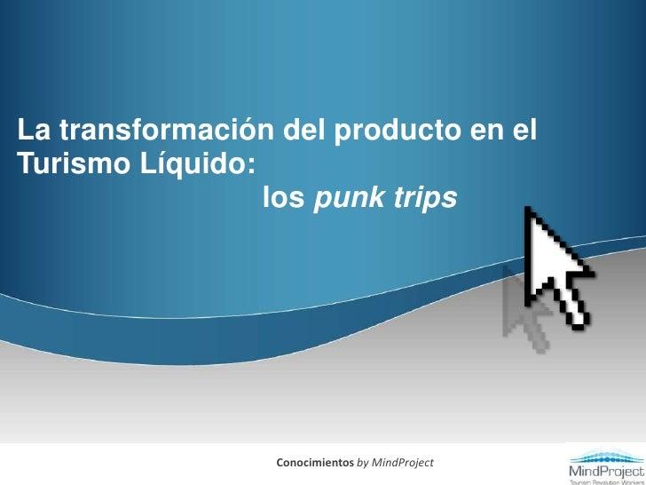 La transformación del producto en el Turismo Líquido:                               los punk trips<br />Conocimientos by M...