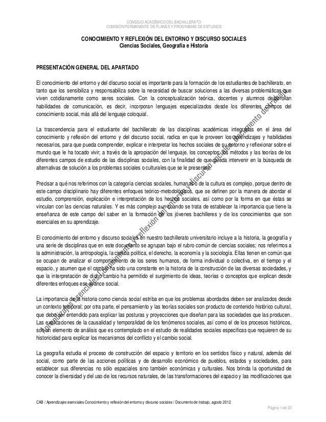 CONSEJO ACADÉMICO DEL BACHILLERATO                                           COMISIÓN PERMANENTE DE PLANES Y PROGRAMAS DE ...
