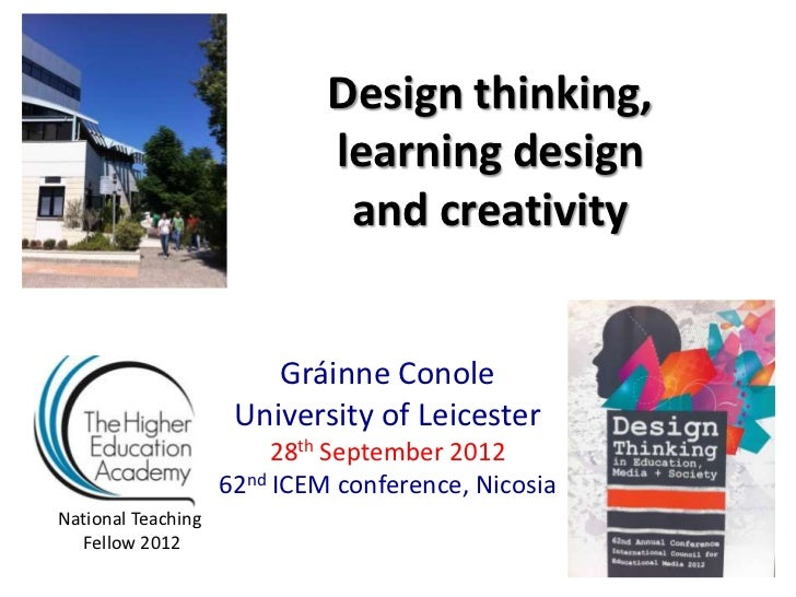 Design thinking,                             learning design                              and creativity                  ...