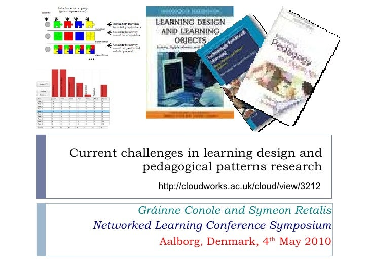 Current challenges in learning design and pedagogical patterns research Gráinne Conole and Symeon Retalis Networked Learni...