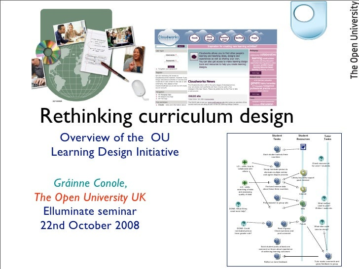 Rethinking curriculum design     Overview of the OU                                                    Student            ...
