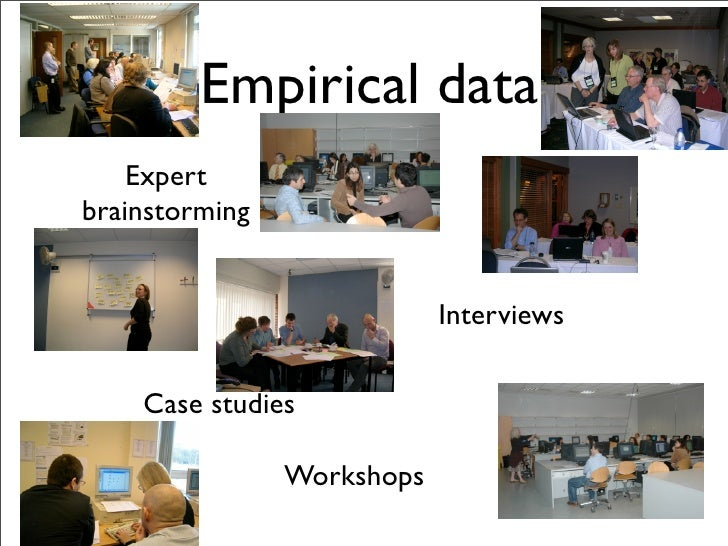 Empirical data     Expert brainstorming                               Interviews       Case studies                  Works...