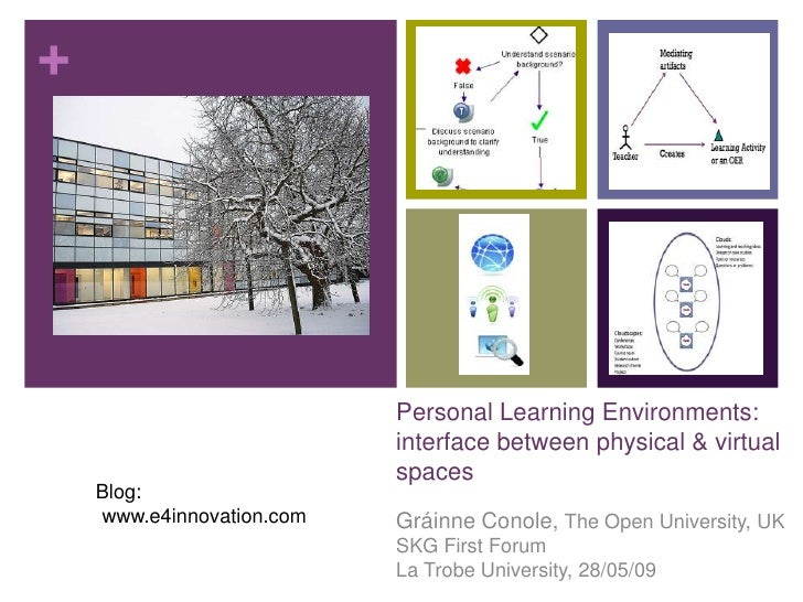 +                                Personal Learning Environments:                            interface between physical & v...