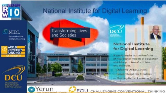 Outline − The Irish e-learning landscape − EENEE report − Theoretical lens − Today's digital society − Affordances − Oppor...