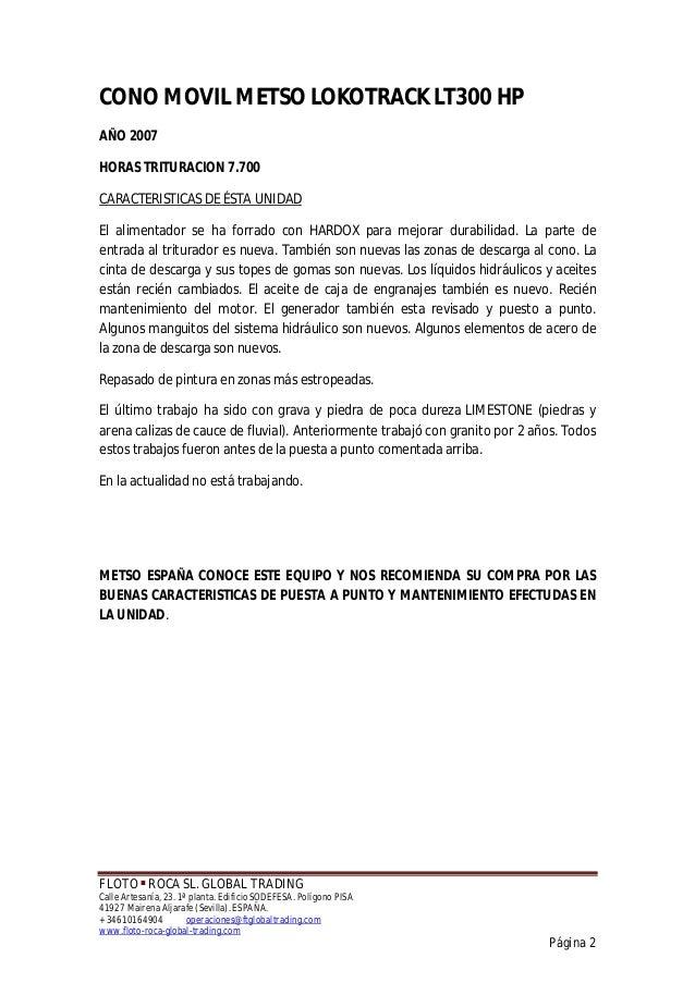 CONO MOVIL METSO LOKOTRACK LT300 HP Slide 2