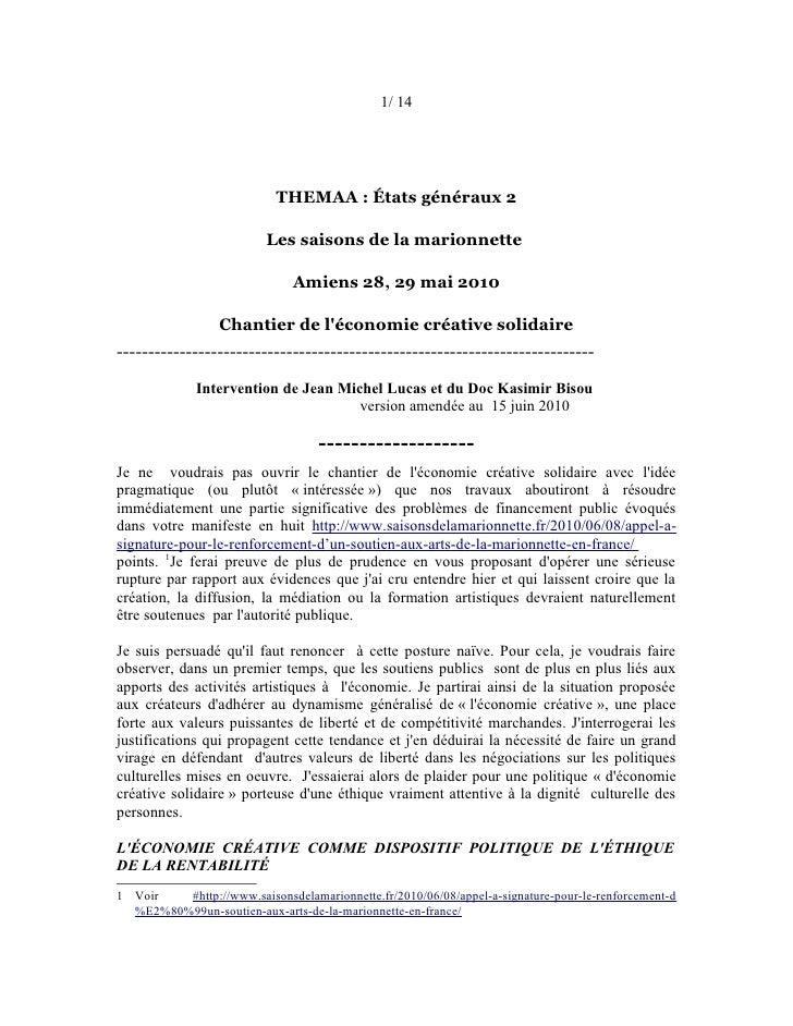 1/ 14                           THEMAA : États généraux 2                          Les saisons de la marionnette          ...