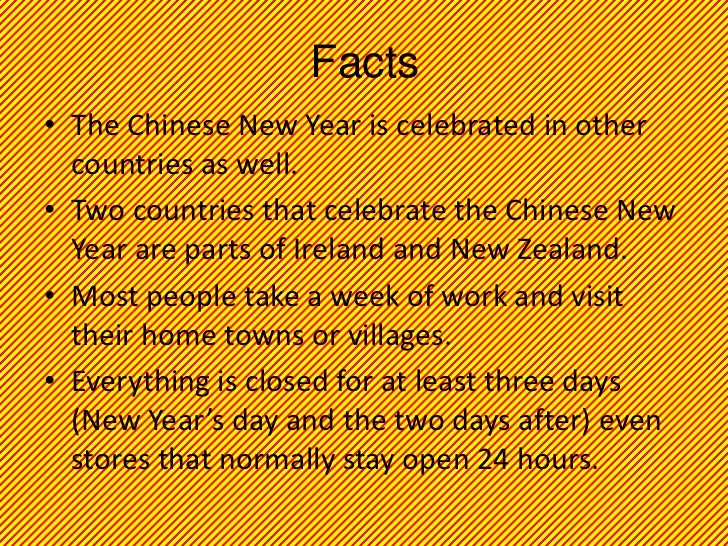 facts the chinese new year - Chinese New Year Facts