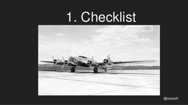 1. Checklist @conorfi