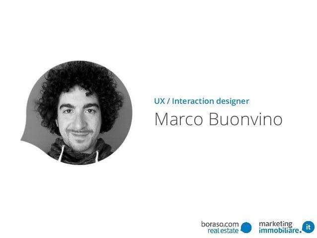 UX / Interaction designer Marco Buonvino