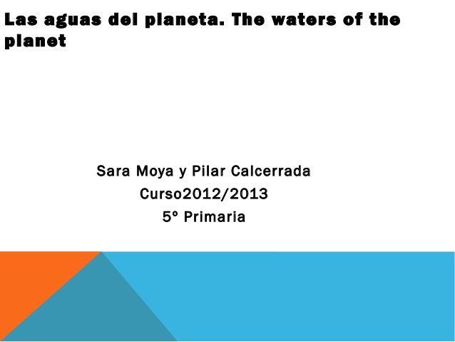 Las aguas del planeta. The waters of theplanet         Sara Moya y Pilar Calcerrada              Curso2012/2013           ...