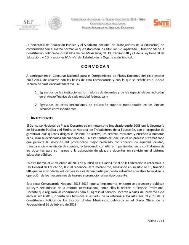 Página 1 de 8La Secretaría de Educación Pública y el Sindicato Nacional de Trabajadores de la Educación, deconformidad con...