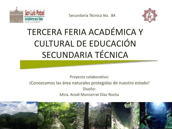 Secundaria Técnica No.  84<br />TERCERA FERIA ACADÉMICA Y CULTURAL DE EDUCACIÓN SECUNDARIA TÉCNICA<br />Proyecto colaborat...