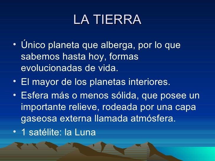 Conozcamos mejor los planetas - Caracteristicas de los planetas interiores ...