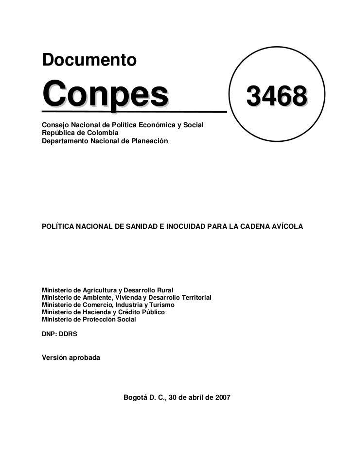 DocumentoConpes                                                         3468Consejo Nacional de Política Económica y Socia...