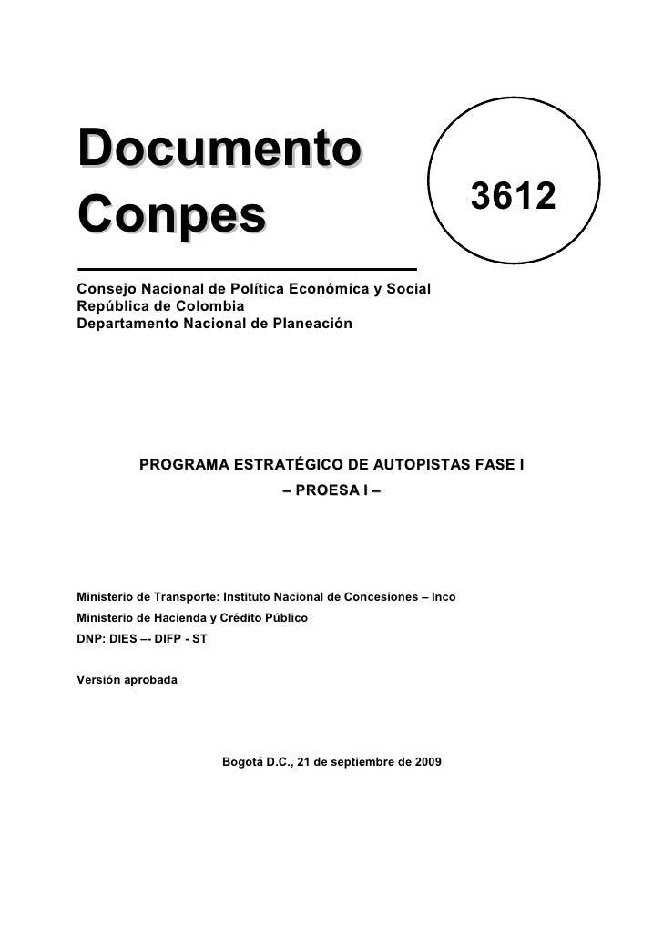 Documento                                                                      3612 Conpes Consejo Nacional de Política Ec...