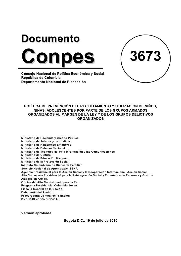 DocumentoConpes                                                                    3673Consejo Nacional de Política Económ...
