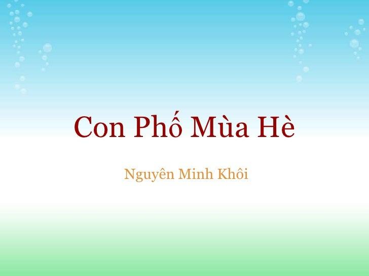 Con Phố Mùa Hè   Nguyên Minh Khôi