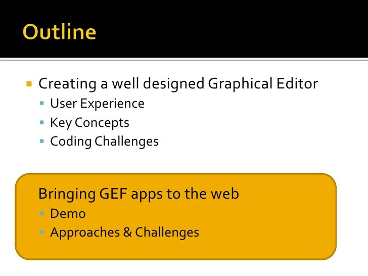 Conquering Gef Part2: Building graphical web-apps with Eclipse Slide 3
