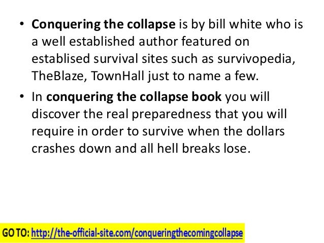 Conquering The Coming Collapse Book Read Conquering The Coming Collapse Reviews Slide 2