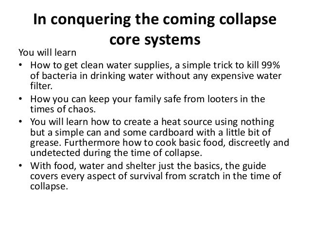 Conquering The Coming Collapse Book Read Conquering The Coming Collapse Reviews Slide 3