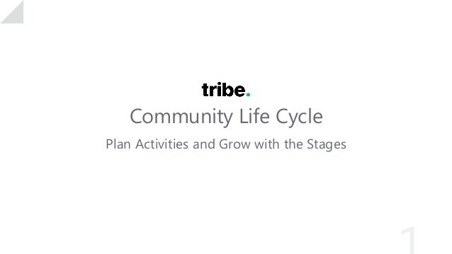 Community Life Cycle Plan Activities and Grow with the Stages