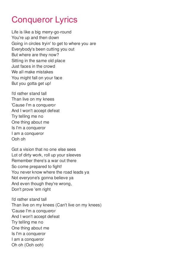 Conqueror lyrics