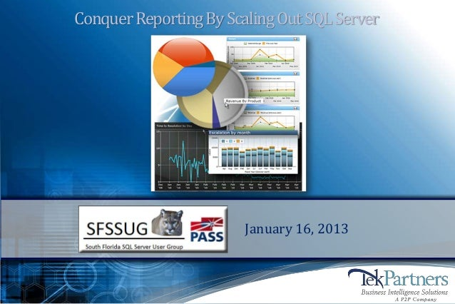 Conquer Reporting By Scaling Out SQL Server                        January 16, 2013