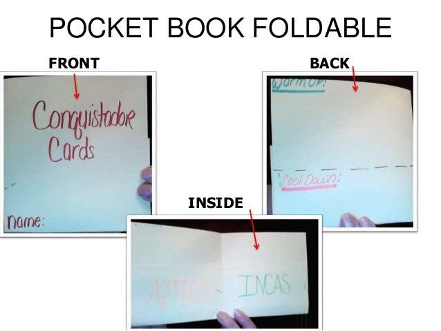 POCKET BOOK FOLDABLE FRONT BACK INSIDE