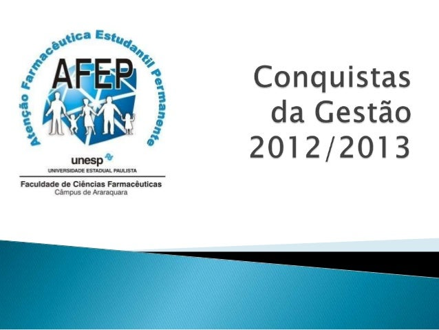 Possibilidade depublicação detrabalhos científicosdos projetos da AFEP