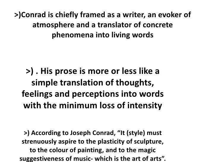 Joseph) Conrad\'s Narrative Style