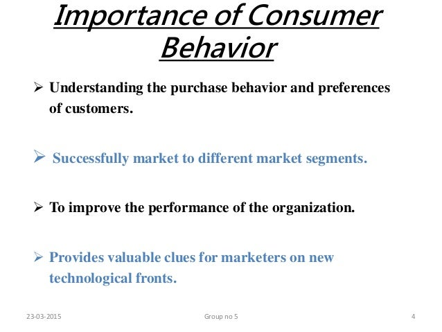 the importance of understanding consumer behaviour Understanding consumer behavior is the  importance of consumer behavior in a marketing strategy  why do you think understanding customer behaviour is a.