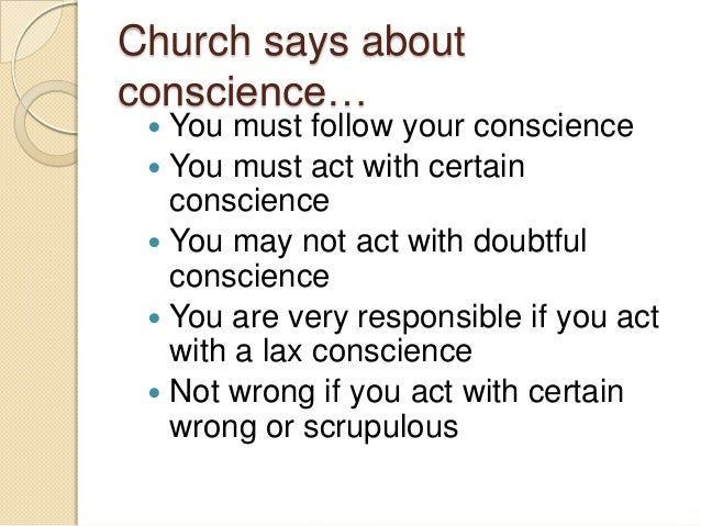 Lax conscience definition