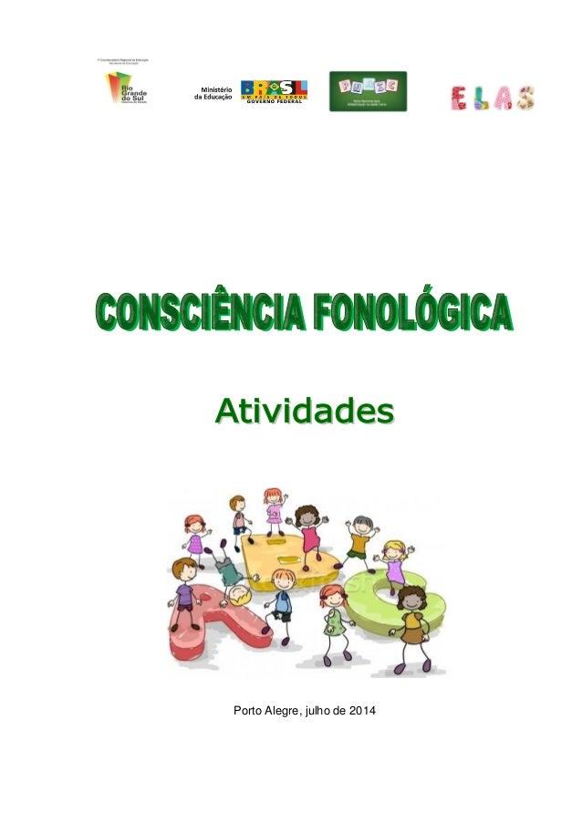 Consciencia Fonologica Livro De Atividades Pdf