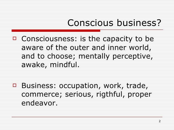 Conscious Business Slide 2