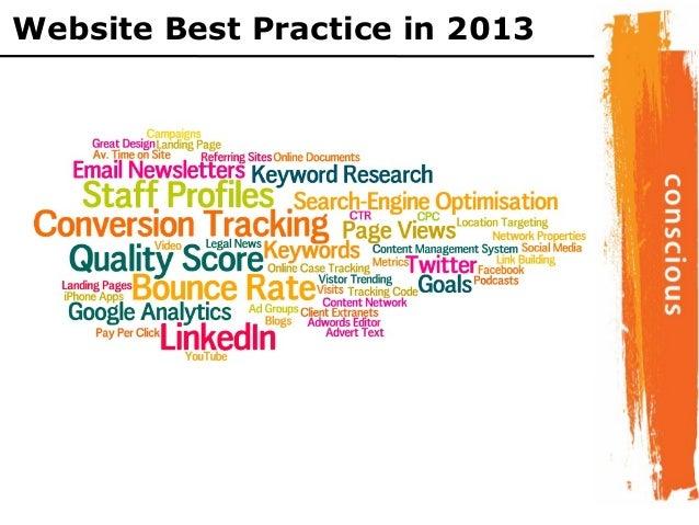 Website Best Practice in 2013