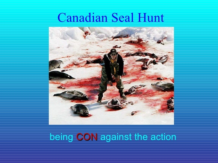 Canadian Seal Hunt being  CON  against the action